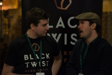 Conor of Black Twist on the left chatting away