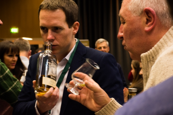 Stephen Teeling explaining the smells & tastes of Teeling Revival Vol.IV